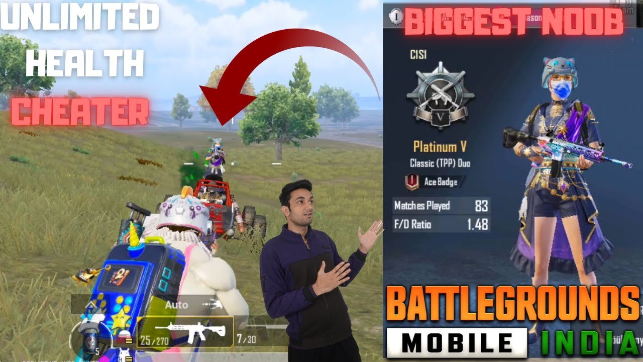 Unlimited Health Enemy In Battleground Mobile India Biggest Noob In BGMI New Update Gameplay