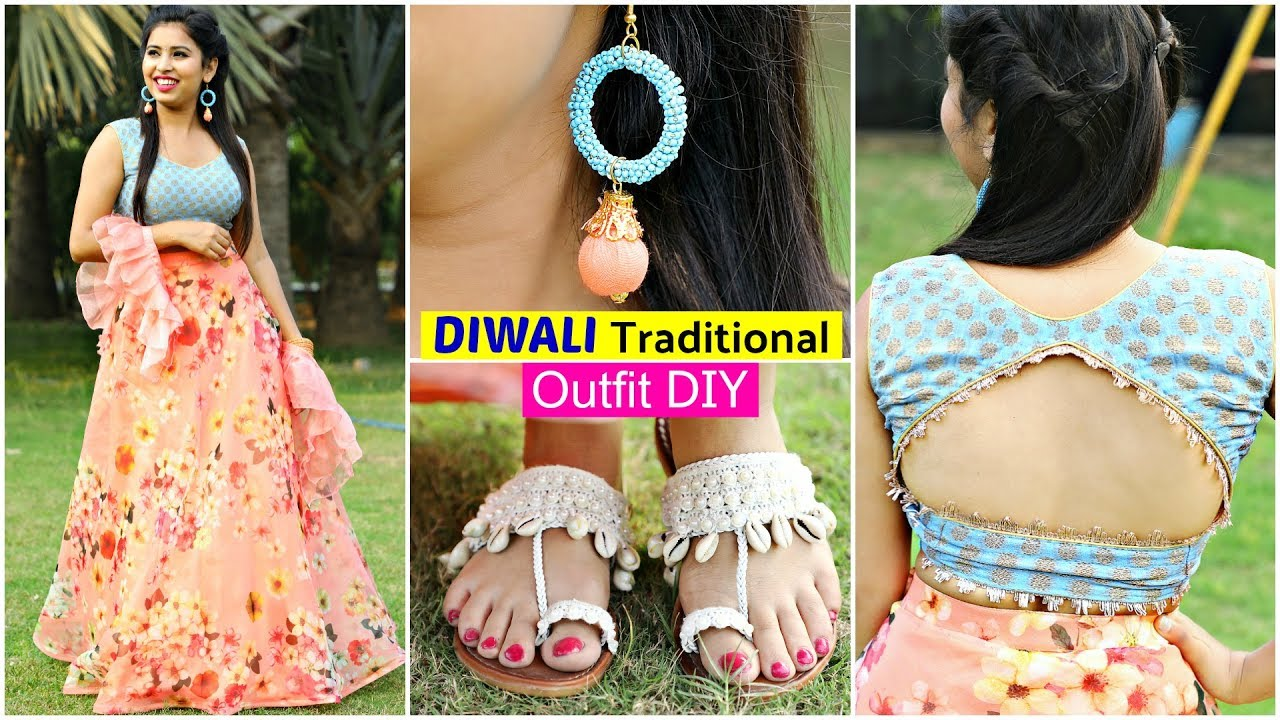 [VIDEO] - 5 Traditional Fashion DIYs for DIWALI | #Outfit  #Teenager #Recycle #Anaysa #DIYQueen 8