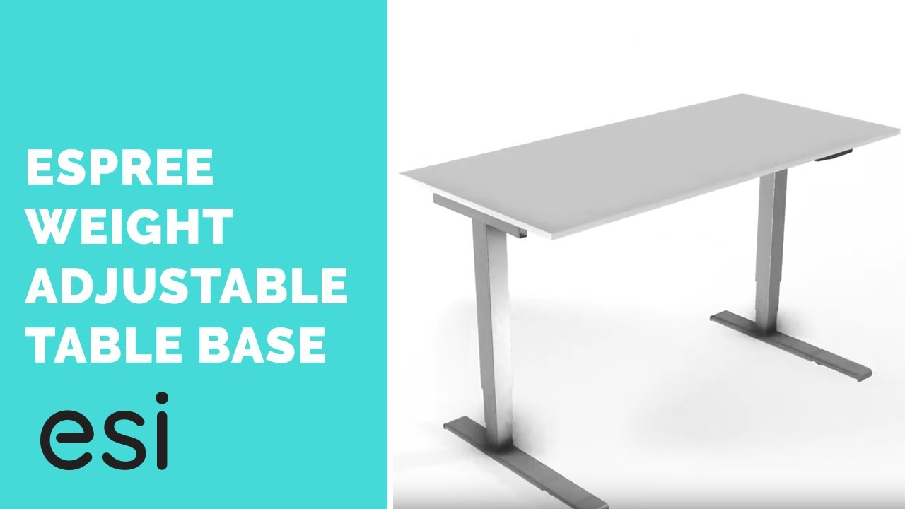 Aa750dat Keyboard Solutions Esi Ergonomic Solutions - Espree wa weight adjustable pneumatic table base