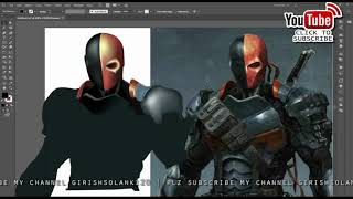 Adobe Illustrator Mesh Tool Tutorial |  Using the mesh tool (Creating an deathstroke)
