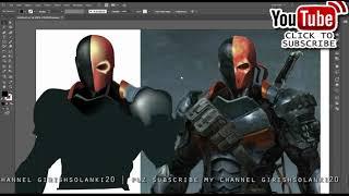 Adobe Illustrator Mesh Tool Tutorial |  Using the mesh tool (Creating an deathstroke)
