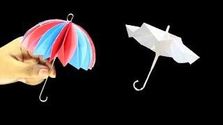 যেভাবে খুব সহজে কাগজ দিয়ে ছাতা বানানো যায় ! Origami Umbrella | THAT OPEN AND CLOSES