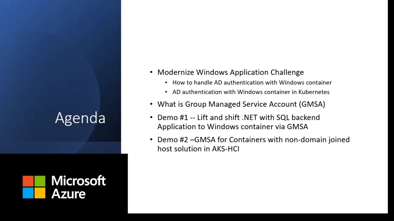 Group Managed Service Account for Windows container and AKS on Azure Stack HCI