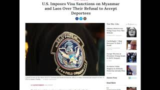 US to Impose Sanctions on Laos and Myanmar - July 11, 2018