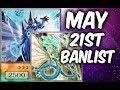 NEW YUGIOH BANLIST MAY 21ST