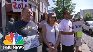 Watch: Protests In Dayton Over President Donald Trump's Visit   NBC News