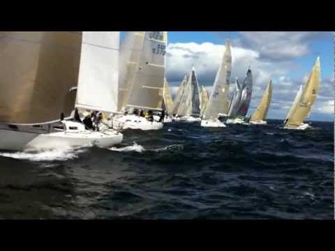 """Audi ORCi Worlds 2012 in Helsinki Sailing race start with 40+ boats on Grand Surprise """"Mia"""" EST 330"""