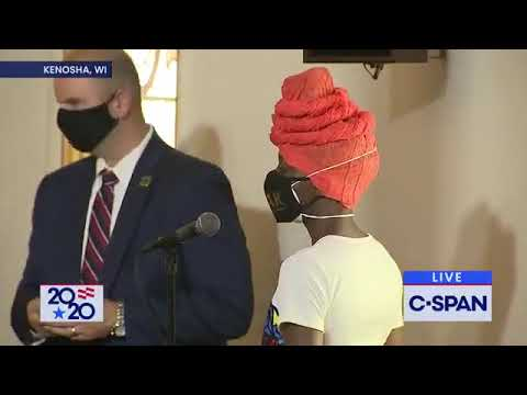 """Woman at Biden event in Kenosha says she was given a """"paper"""" telling her what to say."""