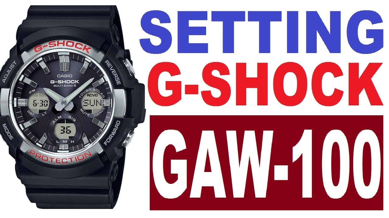 e304ed2426e Setting Casio G-Shock GAW-100 manual 5444 - YouTube