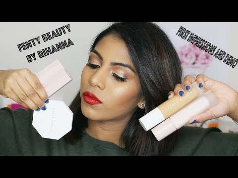 FENTY BEAUTY by RIHANNA ♡ Review + First Impressions | on oily -Tan brown skin tone |  Shuanabeauty