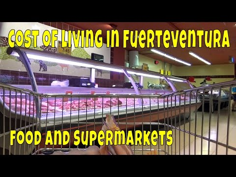 Cost of living in Fuerteventura - food and supermarkets