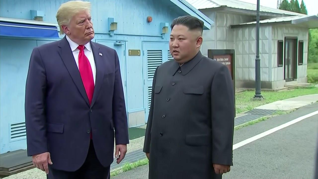 Trump Meets Kim Jong Un At Dmz Los Angeles Times