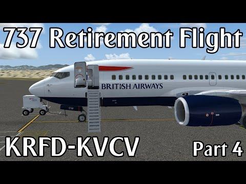 Boeing 737-400 Retirement Flight | KRFD- KVCV | Prepar3D (Part 4)