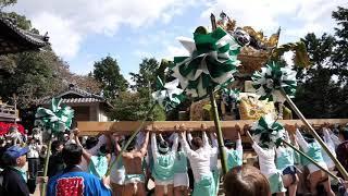 ★2019年甲八幡神社秋祭り 鍛治内12 拝殿奉納 参拝