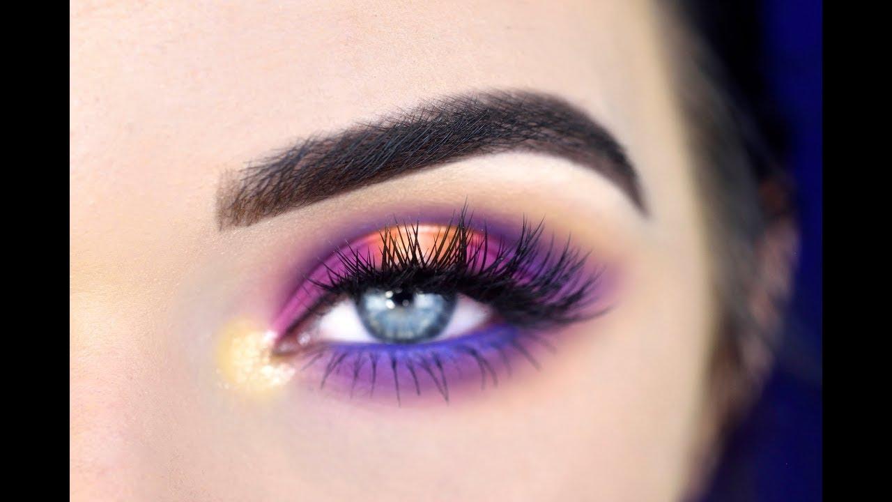 Colorful Eye Makeup Tutorial | Morphe 35B Eyeshadow ...