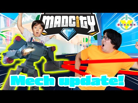 RYAN'S MECH SUIT IN MAD CITY! Let's Play Roblox Mad City Mech Update