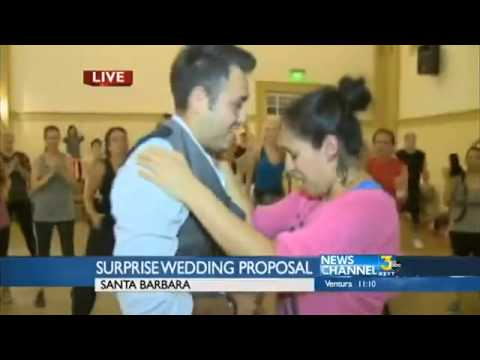 Zumba class ends with Valentine's Day proposal
