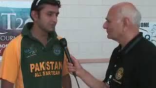 Faisal Iqbal at MAQ T20 Intl Cricket Tournament