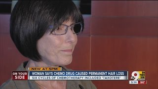 Cancer survivor says chemo drug caused permanent hair loss