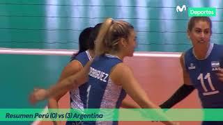 Preolímpico de Voleibol Femenino | Perú 0-3 Argentina → RESUMEN