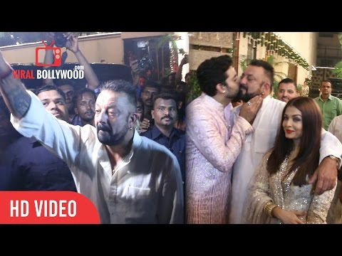 Sanjay Dutt at Bachchan Family Diwali Party