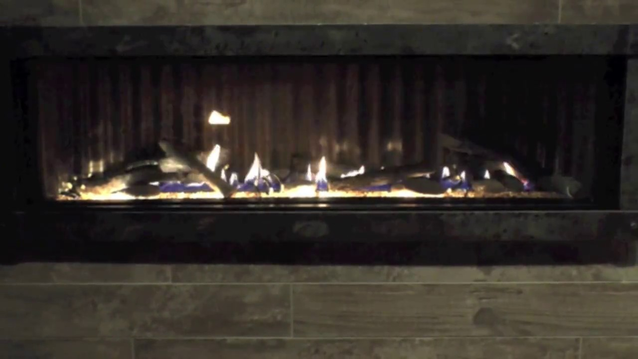 boulevard 60 inch linear direct vent fireplace youtube