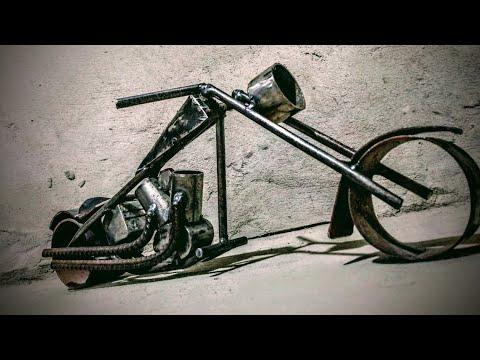 Moto chopper paso a paso #herreria #herreriaartistica #adornos #moto #weldering #welder #custome