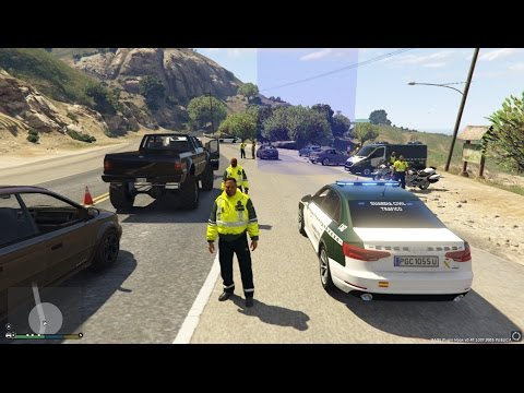 LSPDFR GTA 5 PC - Guardia Civil Trafico Dia 25 (Verificación Alcoholemia)