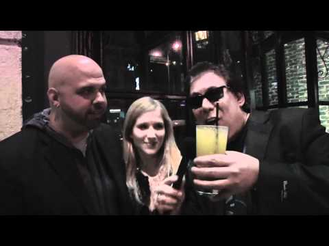Bill Zucker with Ed O'Ross at the Blue Boar with the cast of Sorority Party Massacre (Part 1)