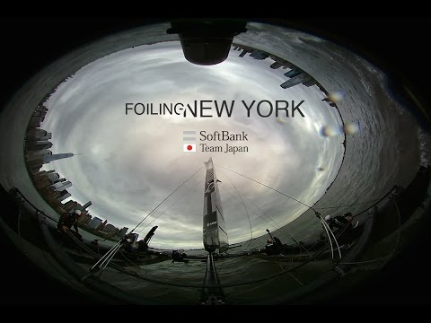 SoftBank Team Japan: 360 Foiling in New York