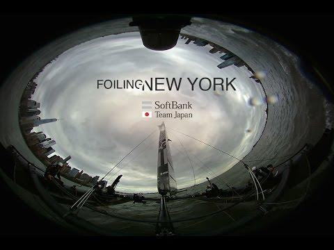 SoftBank Team Japan: 360 Foiling in New York