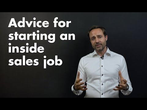 Advice for starting an Inside sales job in a software B2B company