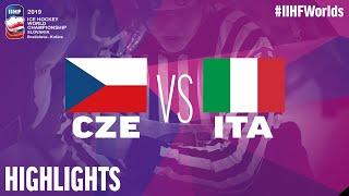 Czech Republic vs. Italy - Game Highlights - #IIHFWorlds 2019