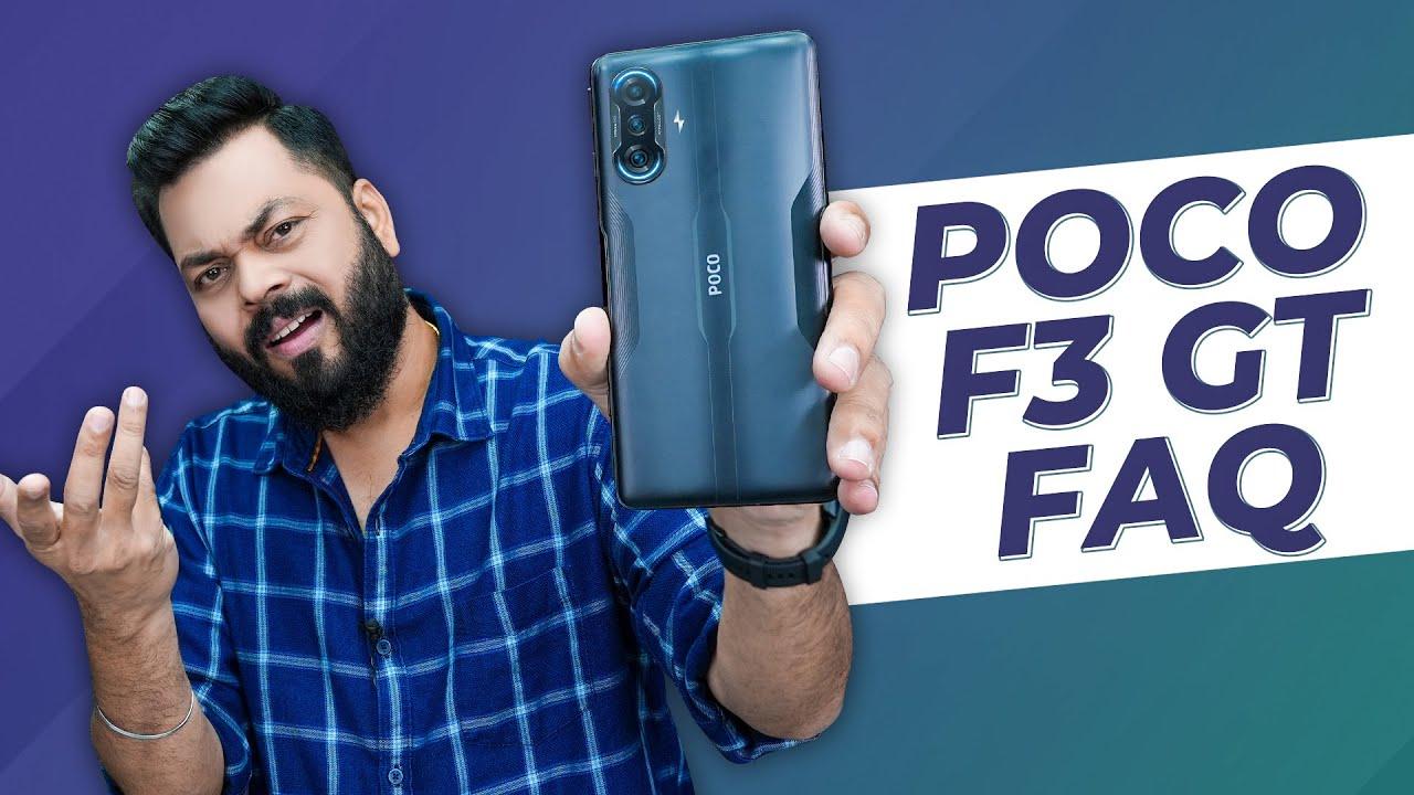 POCO F3 GT 5G Detailed FAQ ⚡ POCO F3 GT vs OnePlus Nord 2, Maglev Triggers, 5G Bands, OTA  & More