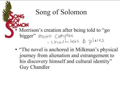 Song of Solomon Lecture #1