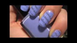 Газетный маникюр видео инструкция / Newspaper nails