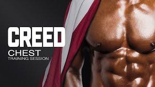 Sesión de entrenamiento de pectorales Creed