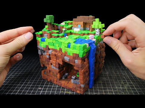 Making Minecraft Scenery Miniature in Polymer Clay thumbnail