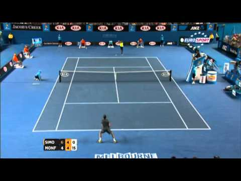 71 shot rally - Gilles Simon vs Gael Monfils - R3 Australian Open 2013