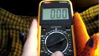 Мультиметр - Multimeter DT 9205A - Як користуватися мультиметром - як користуватися тестером.