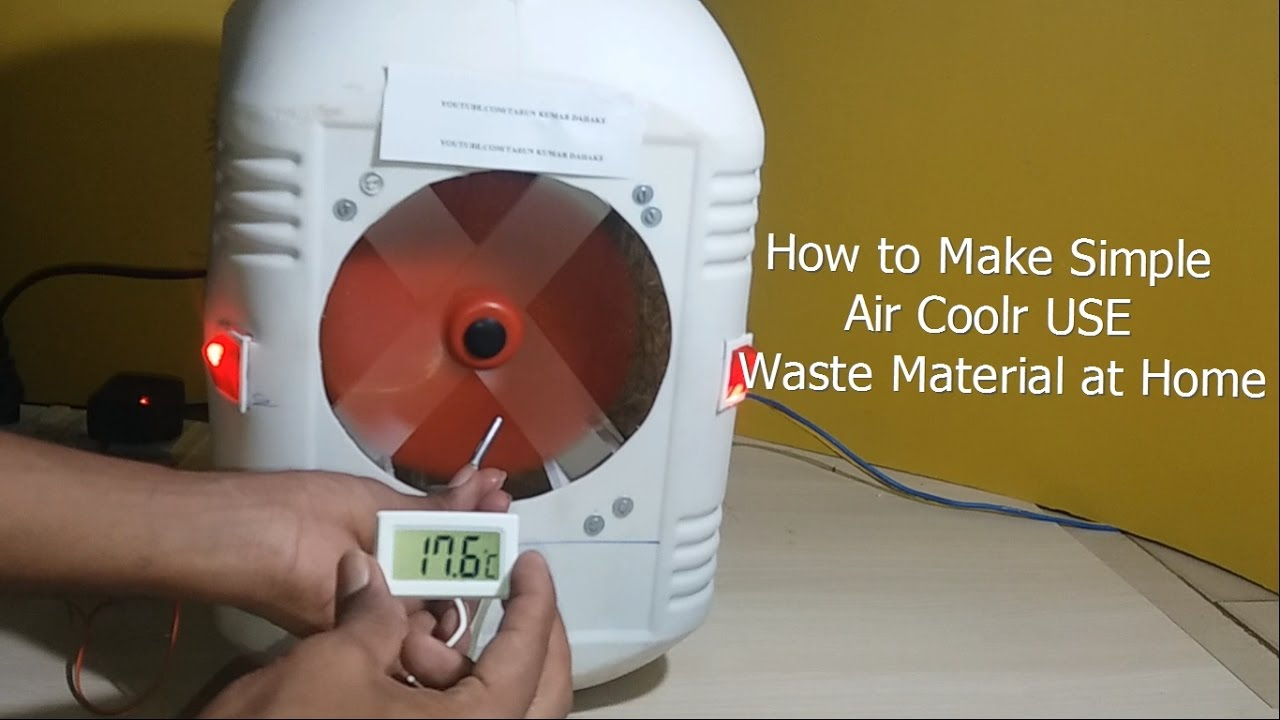 How to make simple air coolr use waste material at home for Make any item using waste material