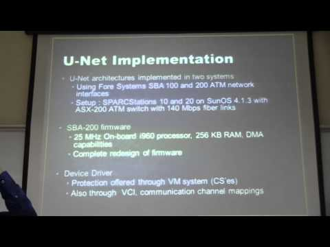 CSE601 U Net User Level Network Interface for Parrallel and Distributed Computing FALL2014 Cuneyt Ca
