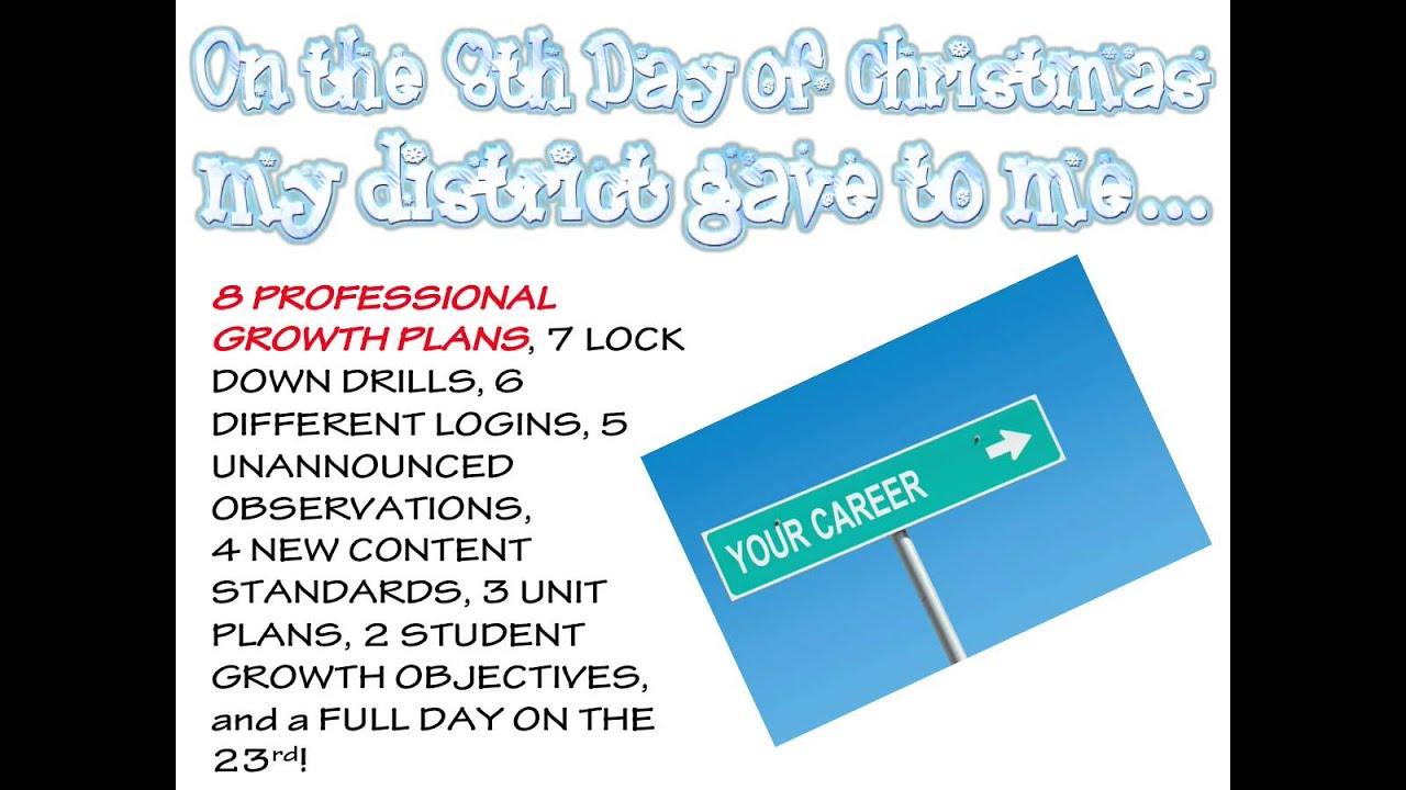 12 Days of Christmas for Teachers - YouTube