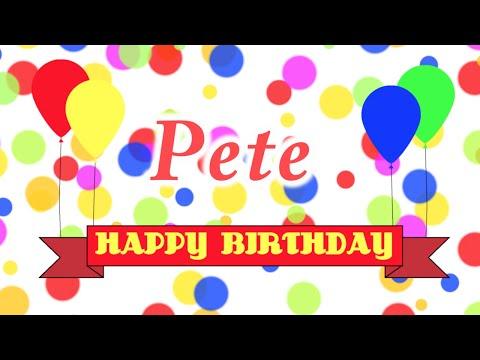 Happy Birthday Pete Song