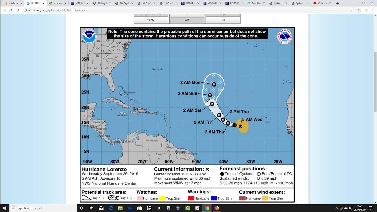 Hurricane Lorenzo path: Will Lorenzo be a hurricane when it hits the UK?