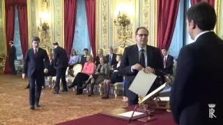 Cerimonia di giuramento del Governo Renzi
