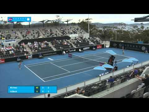 Roberta Vinci v Annika Beck: Full-match replay (2R) - Hobart International 2015