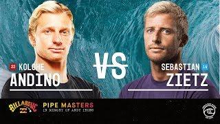 Kolohe Andino vs. Sebastian Zietz - Round of 32, Heat 16 - Billabong Pipe Masters 2019