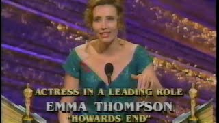 Emma Thompson winning Best Actress for Howards End