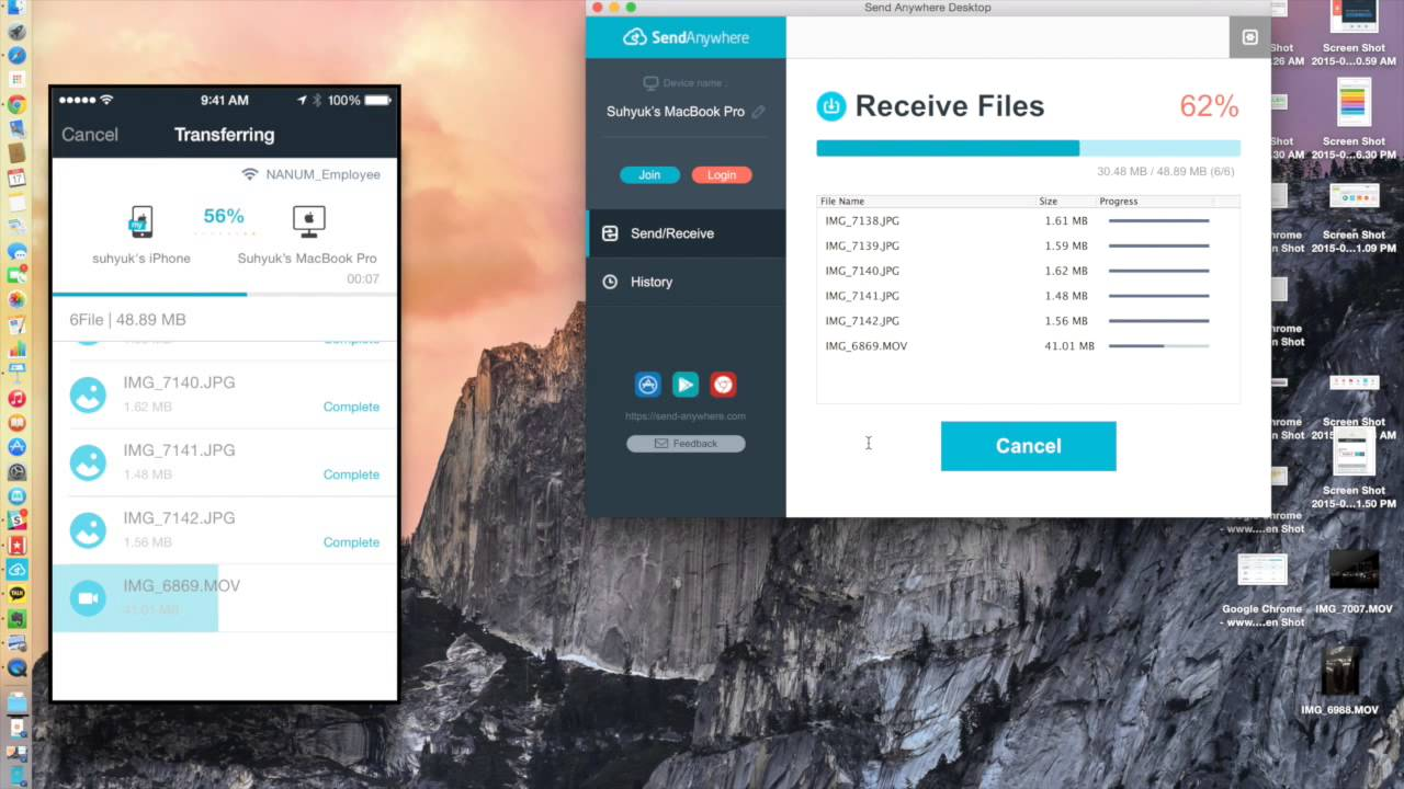 Send Anywhere - The Simplest Way to Send files, Anywhere
